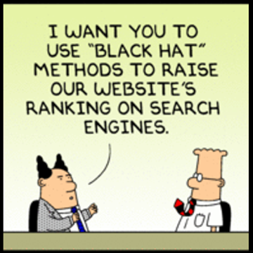"Dilbert on ""Black Hat"" SEO"