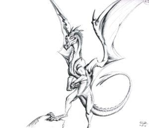 dragon-posing